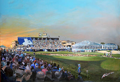 Painting - D P World Tour Championship 2013 by Mark Robinson