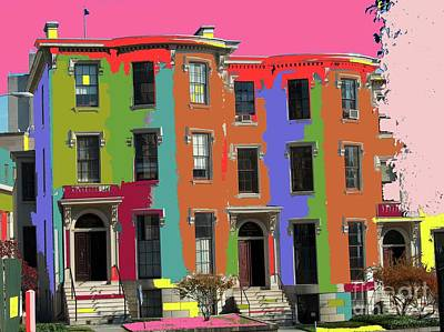 Digital Art - D Street In D C by Dave Olmsted