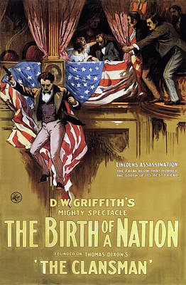 D W Griffith's Birth Of A Nation 1915 Art Print by Mountain Dreams