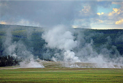 Photograph - D09125 Steam Vents Near Midway Geyser Basin by Ed Cooper Photography