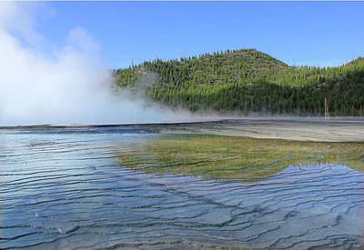 Photograph - D09127 Reflection In Grand Prismatic Spring by Ed Cooper Photography