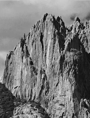 Photograph - D2m6102-bw Sheer Cliff Castle Crags State Park by Ed Cooper Photography