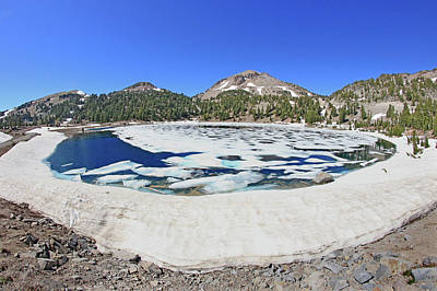 Photograph - D2n6193 Lake Helen Through Fisheye Lens by Ed Cooper Photography