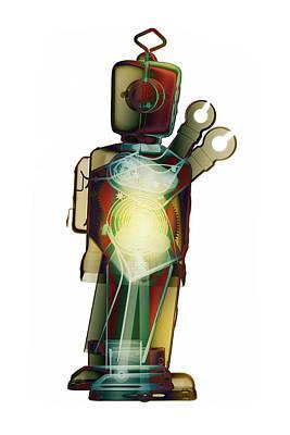 Photograph - D4x X-ray Robot By Roy Livingston by Roy Livingston