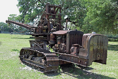 Photograph - D6 Caterpillar Tractor Crane by D Hackett