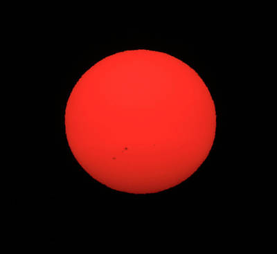 Photograph - D7b6392 Smoky Sun With Sunspots Over Sonoma by Ed Cooper Photography