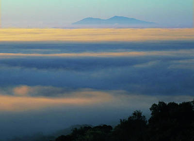 Photograph - D8b6320 Mt. Diablo And Fog From Sonoma Mountain Ca by Ed Cooper Photography