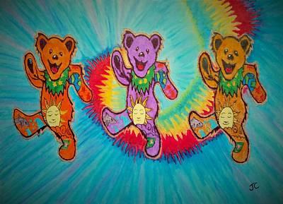 Grateful Dead Wall Art - Painting - Da Bears  by John Cunnane