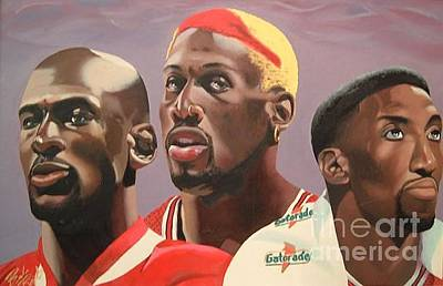 Scottie Pippen Painting - Da Bulls by Brandon Ramquist