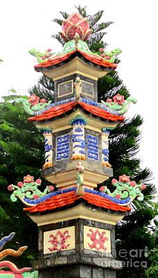 Photograph - Da Nang Pagoda 23 by Randall Weidner