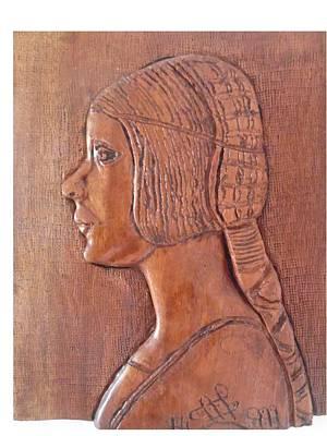 Relief - Da Vinci Girl by Esther Newman-Cohen