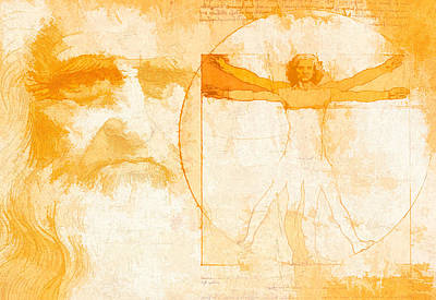 Mixed Media - Da Vinci Poster by Dan Sproul