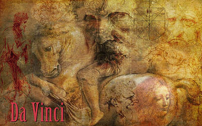 Digital Art - Da Vinci Remastered by Greg Sharpe