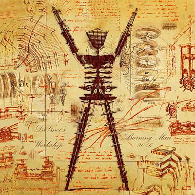 Da Vincis Workshop Art Print by Chad Rice
