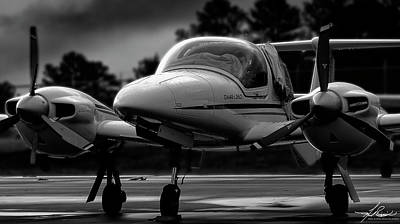 Photograph - Da42 In Black And White by Philip Rispin