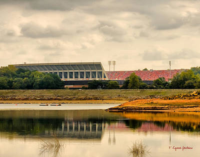 Hartwell Photograph - Dabo's First Game by Lynne Jenkins