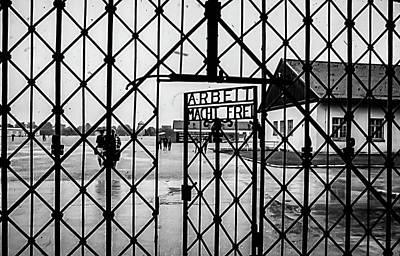 Blavk And White Photograph - Dachau Nazi Concenrearion Camp  by Bob Lynn