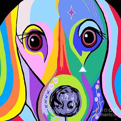 Weiner Dog Painting - Dachshund 2 by Eloise Schneider