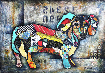 Mixed Media - Dachshund 2 by Patricia Lintner
