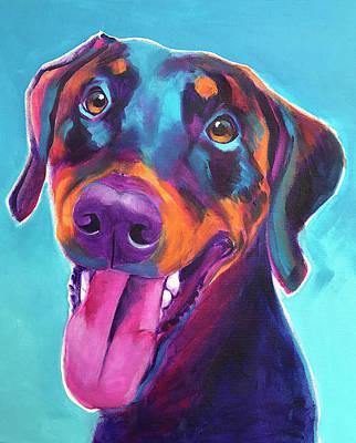 Doberman Art Painting - Doberman - Annie by Alicia VanNoy Call