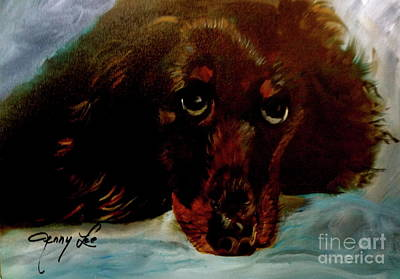 Painting - Dachshund by Jenny Lee