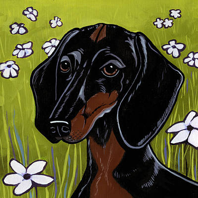 Painting - Dachshund by Leanne Wilkes