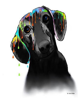 Digital Art - Dachshund by Marlene Watson