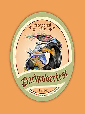 Food And Beverage Drawings - Dachtoberfest Seasonal Ale by John LaFree