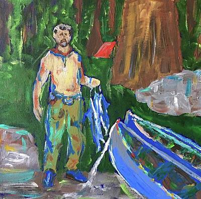 Painting - Dad by Brenda Pressnall
