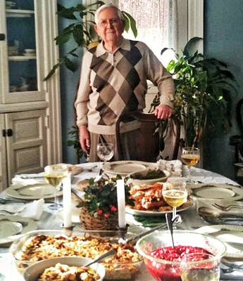 Photograph - Dad On Thanksgiving by Patricia Greer