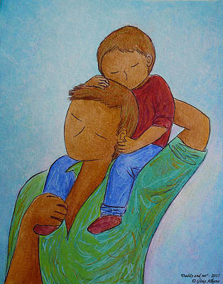 Daddy And Me Art Print by Gioia Albano
