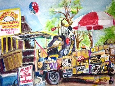 Daddy Hog Truck Original by Carol Boss