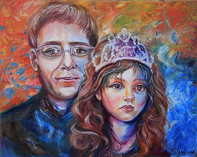 Painting - Daddy Little Girl by Yelena Rubin