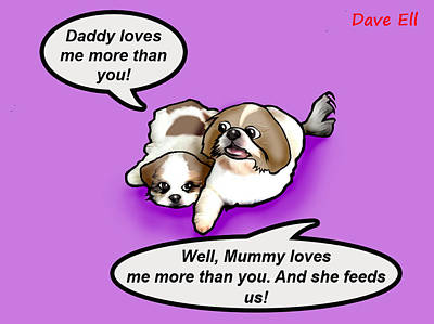 Brothers And Sisters Digital Art - Daddy Loves Me More by Dave Ell