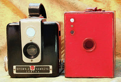 Photograph - Daddy's Cameras 2 Enhanced by Mary Bedy