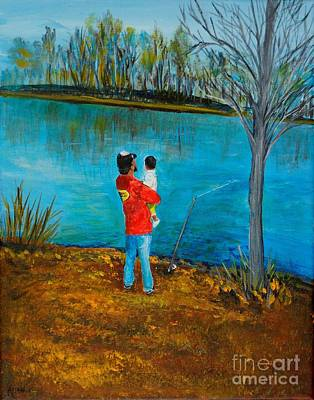 Painting - Daddy's Day by Leslie Allen