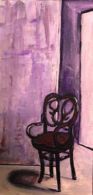 Empty Chairs Drawing - Daddy's Empty Chair by Helena Bebirian