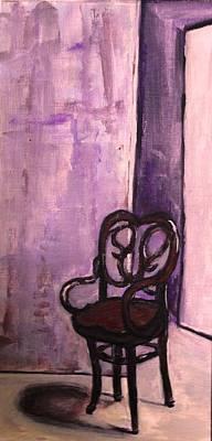 Daddy's Empty Chair Print by Helena Bebirian