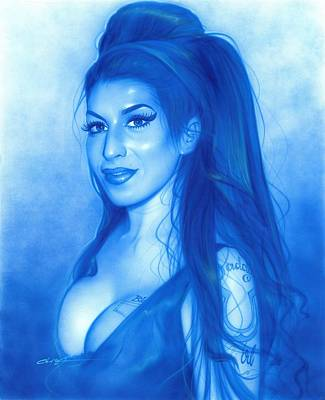 Amy Winehouse - ' Daddy's Girl ' Print by Christian Chapman Art