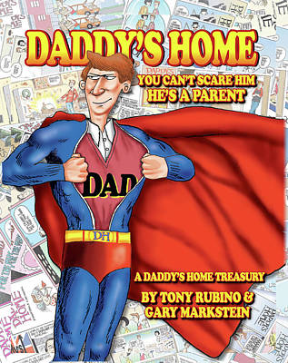 Painting - Daddy's Home Comics Original Book Cover Art by Tony Rubino