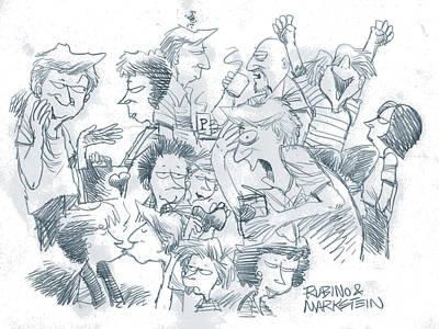 Pop Art Drawings - Daddys Home Comics Original Sketch by Tony Rubino