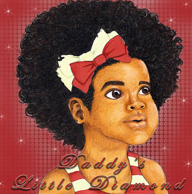 Kappa Alpha Psi Drawing - Daddy's Little Girl - Kappa Alpha Psi by BFly Designs
