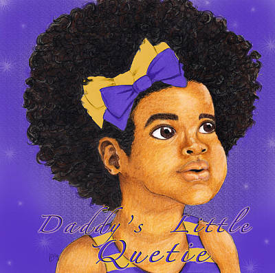 Omega Psi Phi Drawing - Daddy's Little Girl - Omega Psi Phi by BFly Designs