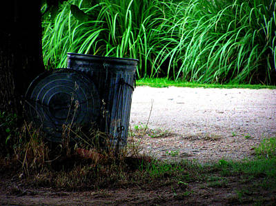 Photograph - Daddy's Trash Can by Susie Weaver