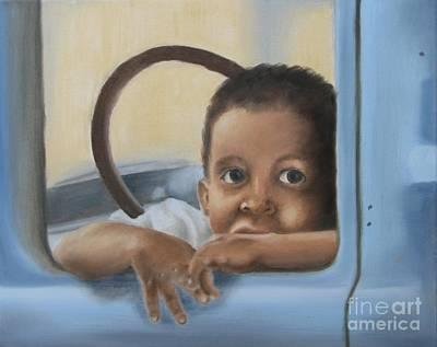 Painting - Daddy's Truck by Annemeet Hasidi- van der Leij