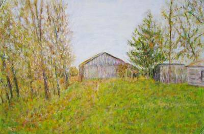 Painting - Dad's Barnyard by Glenda Crigger