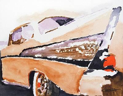 Ruben Carrillo Wall Art - Painting - Dad's Cali Ride by Ruben Carrillo