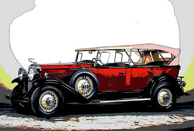 Dad's Car Art Print by Charles Shoup