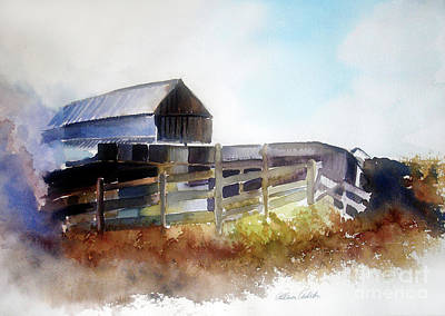 Dad's Farm House Art Print by Allison Ashton