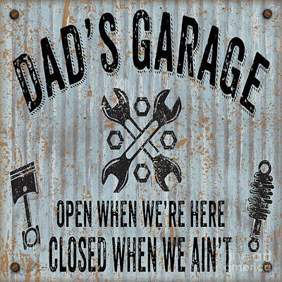Digital Art - Dads Garage On Sheet Metal by Jean Plout